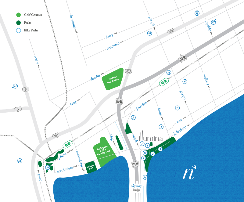 Illumina Burlington Amenities Map