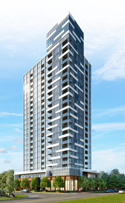 Illumina Condo Burlington Day Rendering